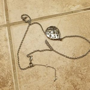 Fossil Jewelry - Beautiful fossil silver necklace